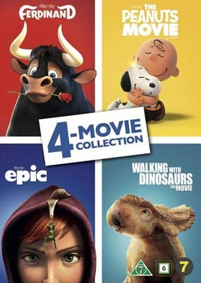 Ferdinand, The Peanuts Movie, Epic, Walking With Dinosaurs (4 Collection Movies)