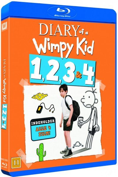 Diary of A Wimpy Kid 1-4 BD Box