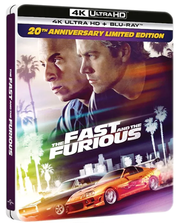 The Fast & The Furious - 20th Anniversary Steelbook 4K Ultra HD + Blu-ray