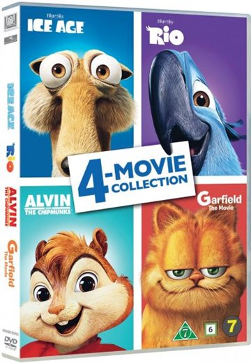 Ice Age/Rio/Alvin/Garfield - 4 Movie Collection (DVD)