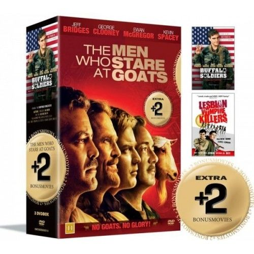 MEN WHO STARE AT GOATS + Bonus Movies