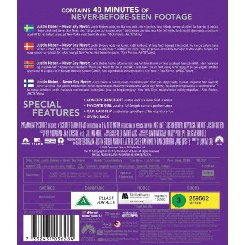Justin Bieber - Never say Never Blu-Ray