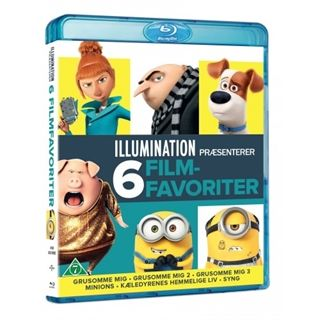 Illumination 6 Movies - Blu-Ray Collection